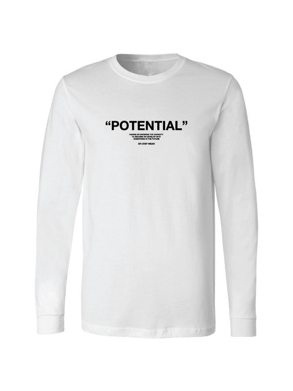 POTENTIAL LONG SLEEVE TEE - WHITE