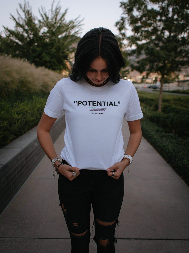 POTENTIAL TEE - WHITE