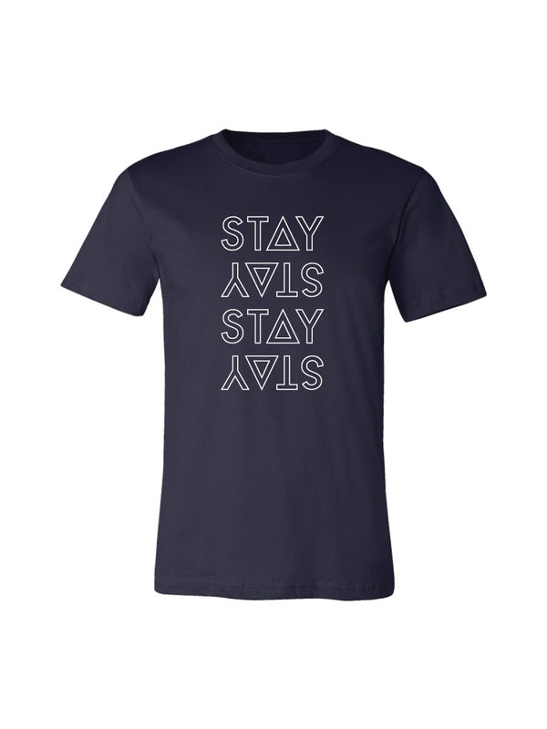 STACKED TEE - NAVY (MENS/UNISEX)