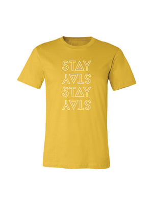 STACKED TEE - MUSTARD (MENS/UNISEX)