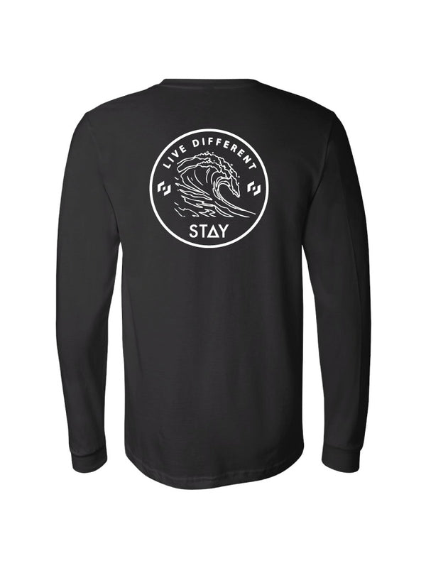 WAVES LD LONG SLEEVE - BLACK (MENS/UNISEX)