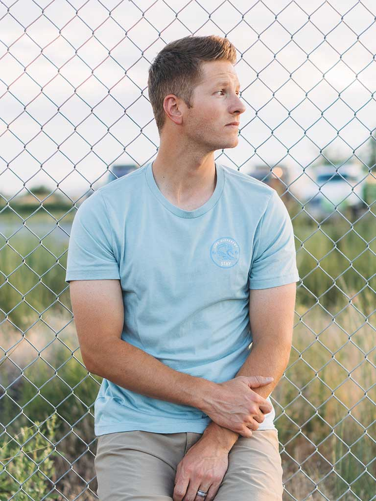 Waves Tee - Dusty Blue