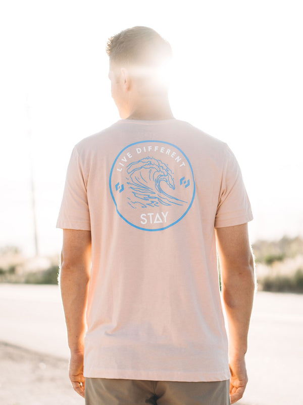Waves Tee - Heather Peach