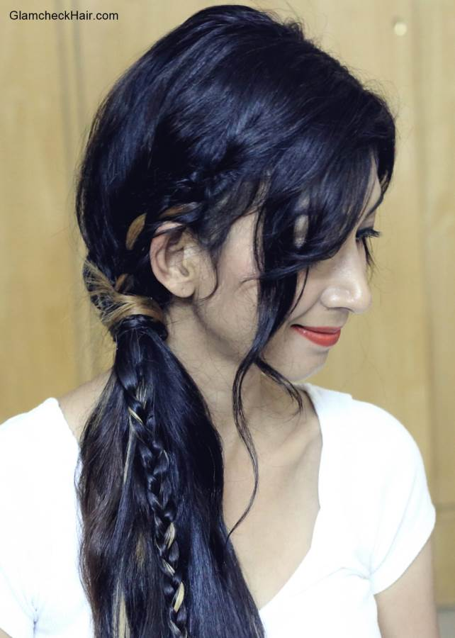 Braided Side Ponytail Hairstyle