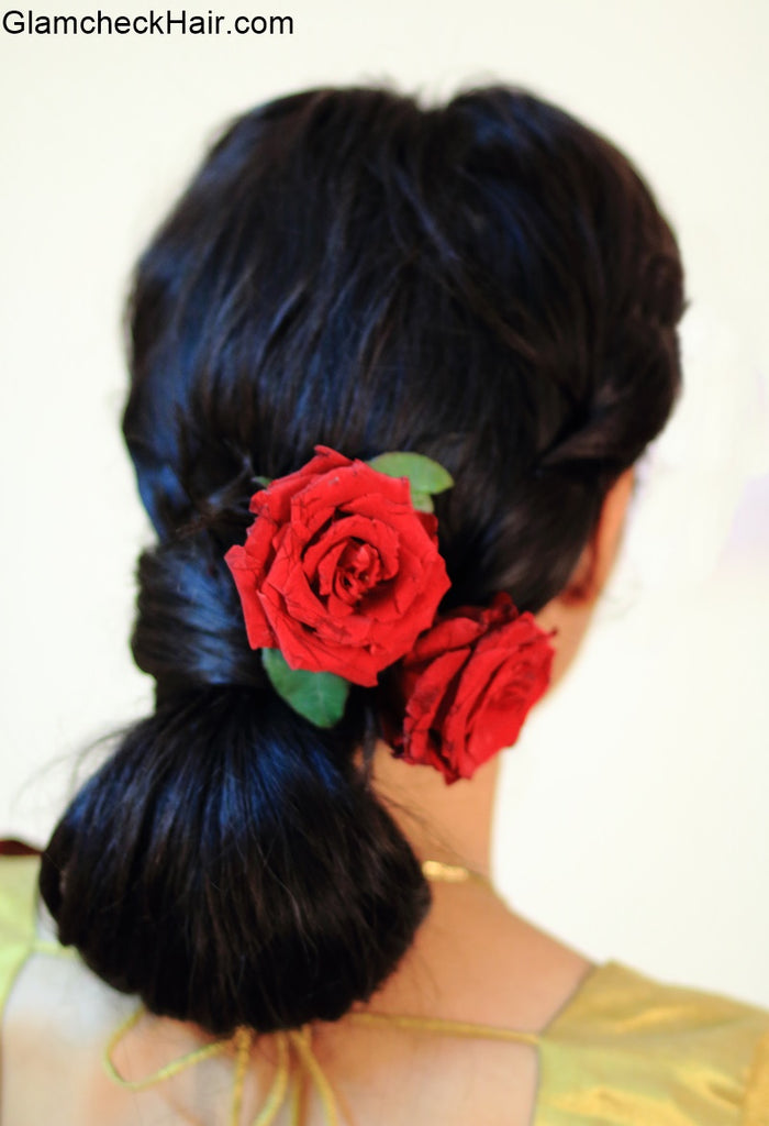 Festive Hairstyle with Saree