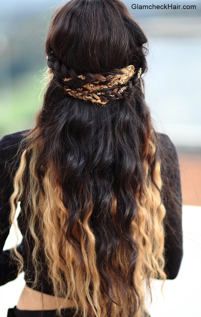 Shimmery Braided Crown