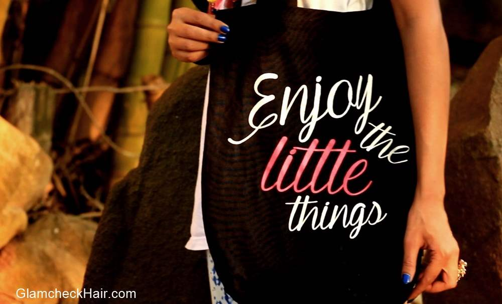 Graphic Printed Tote - ToniQ - Enjoy the little things
