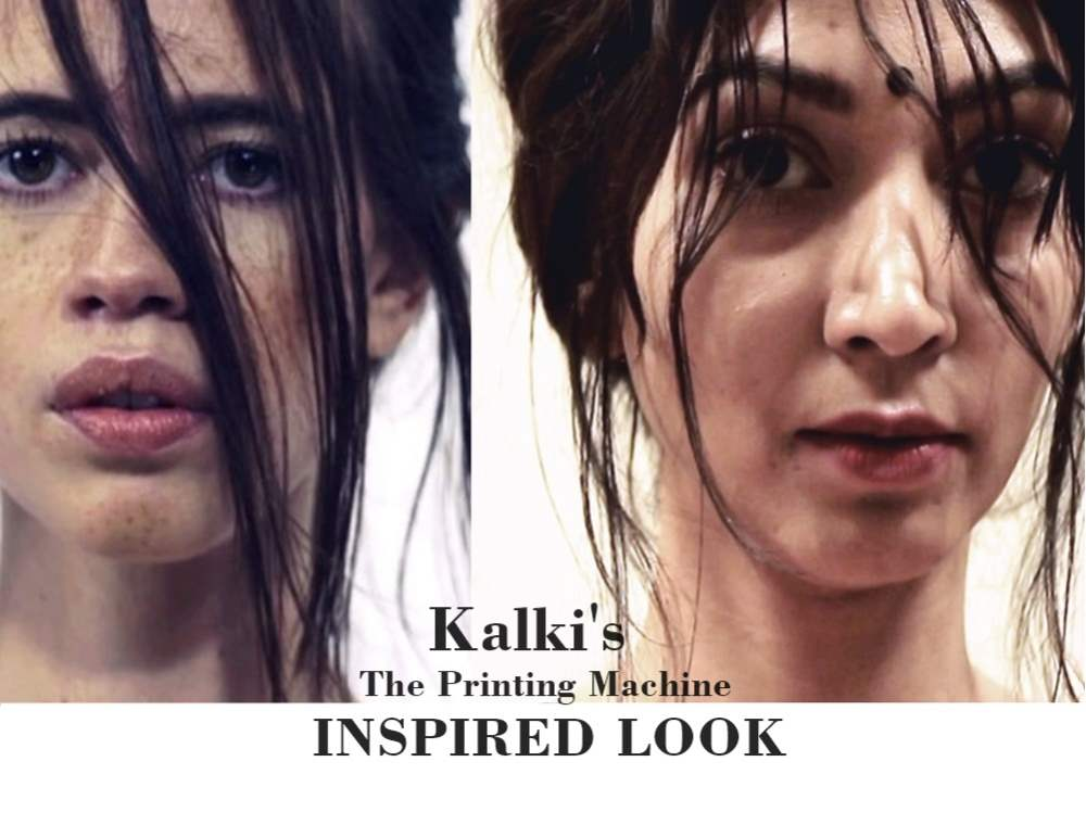 Kalki Koechlin The Printing Machine Inspired Look - Hair and Makeup