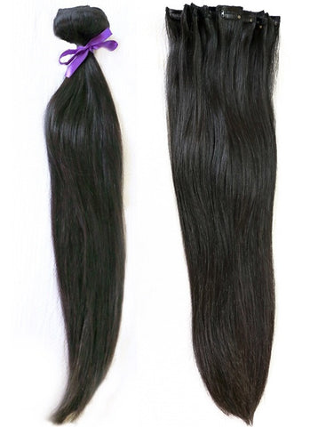 "Natural Black 160 Gram - 10 pcs set (20"")"