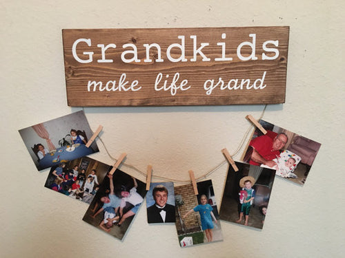 Grandkids Make Life Grand Picture Holder