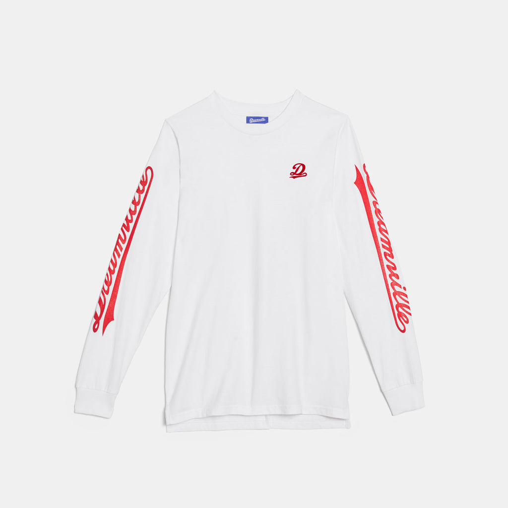 Dreamville Classic Long Sleeve Tee White/Red