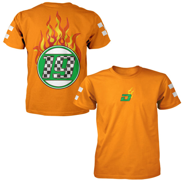 Racing Dreamville Flames Tee - Orange