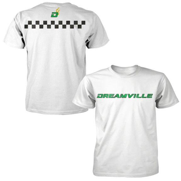 Racing Dreamville Checkered Line Tee - White