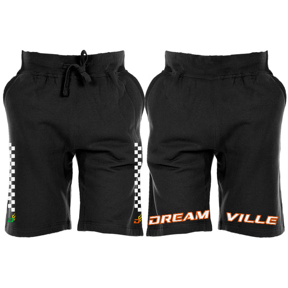 Racing Dreamville Checkered Line Shorts - Black