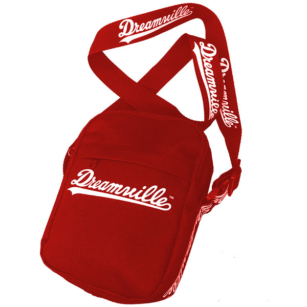 Dreamville Script Logo Messenger Bag - Red