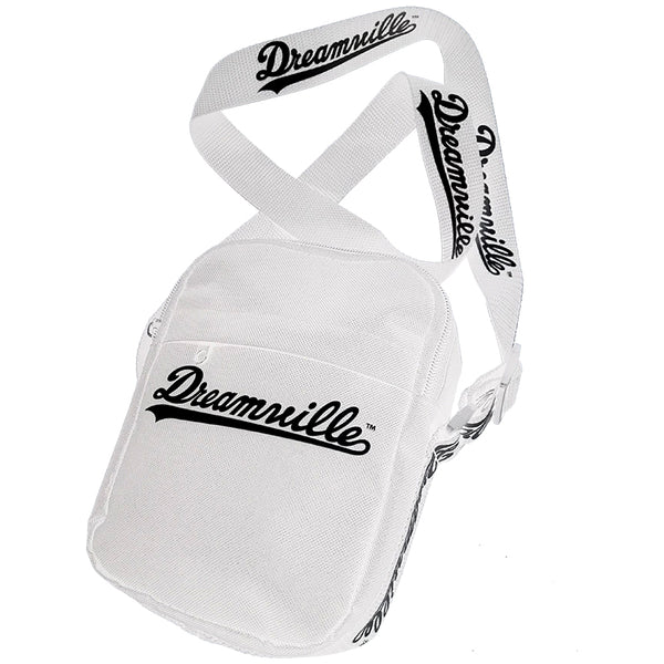 Dreamville Script Logo Messenger Bag - White