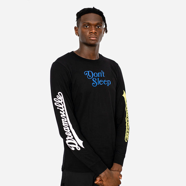 Don't Sleep Long Sleeve (Black,Blue,Yellow)