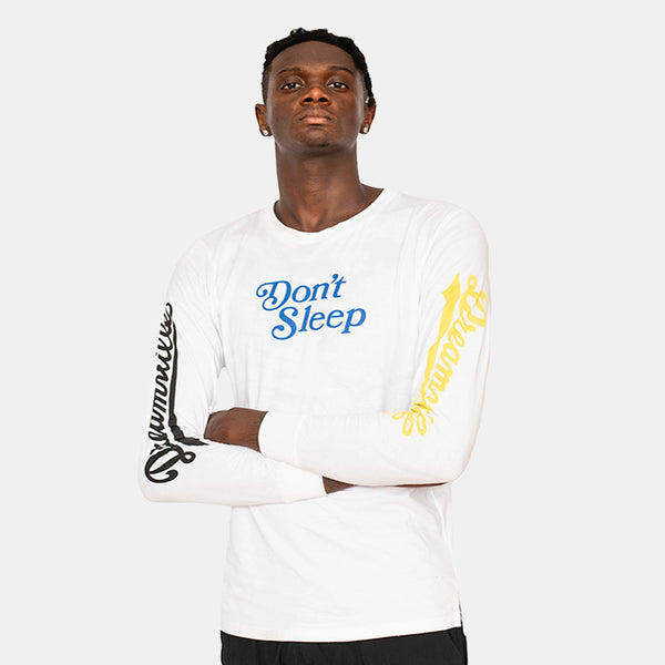 Don't Sleep Long Sleeve (White,Blue,Yellow)