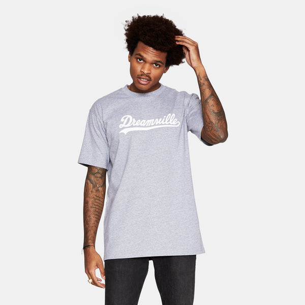 Dreamville Classic Short Sleeve Tee Heather Grey/White