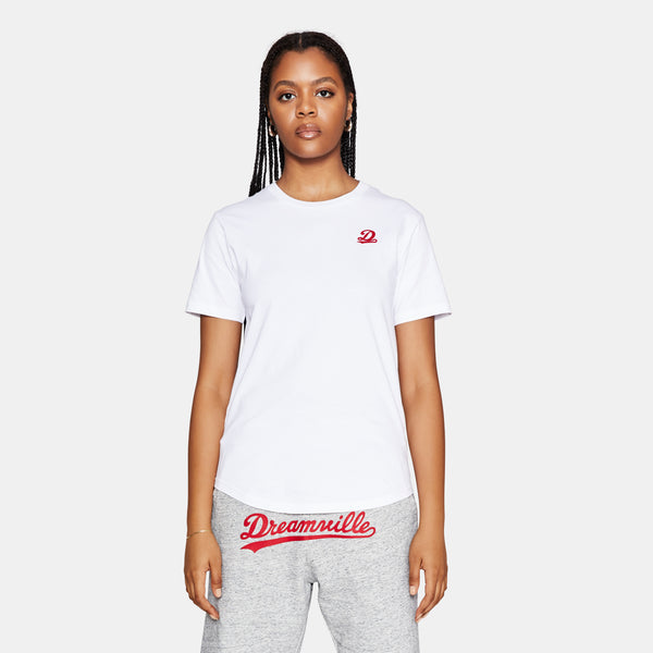 Dreamville Classic Short Sleeve State Tee White/Red