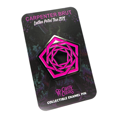 CARPENTER BRUT - LEATHER PATROL - ENAMEL PIN