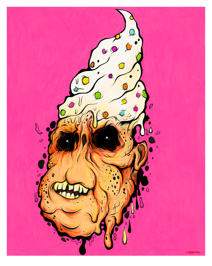 """BAD TASTE"" DEADLY DESSERT PRINT"