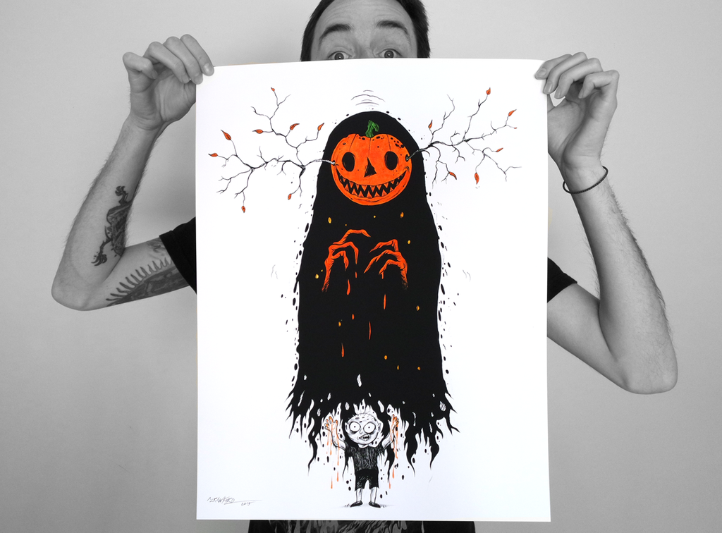 """THE BOY WHO DREAMS OF HALLOWEEN"" LIMITED EDITION PRINT"