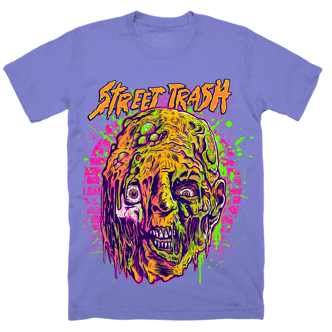 STREET TRASH: NEON BODY HORROR - T-SHIRT (TOXIC PURPLE)