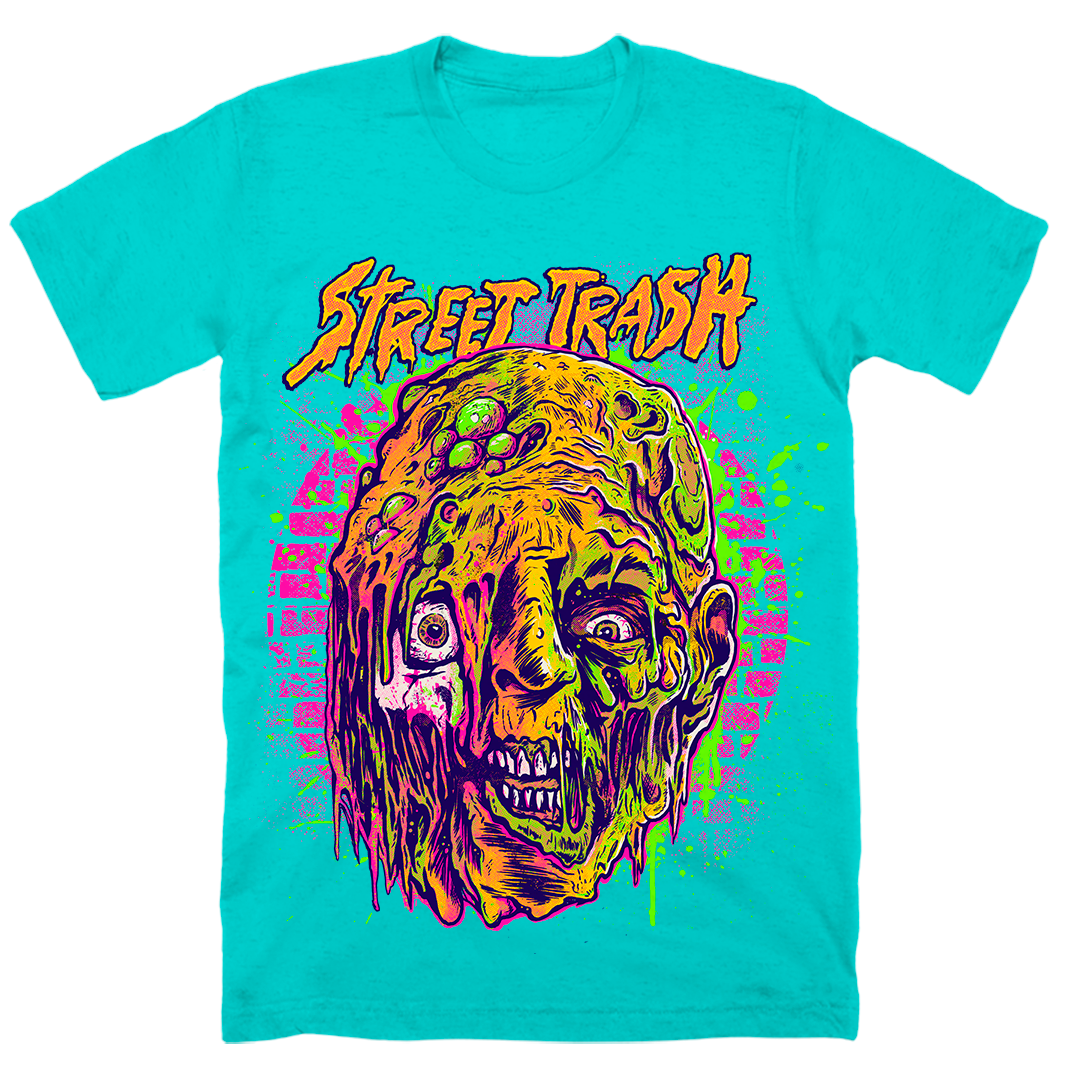 STREET TRASH: NEON BODY HORROR - T-SHIRT (TOXIC TURQUOISE)