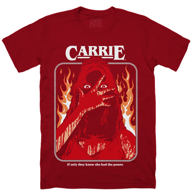 CARRIE - HORROR NOVEL T-SHIRT (DRIED BLOOD)