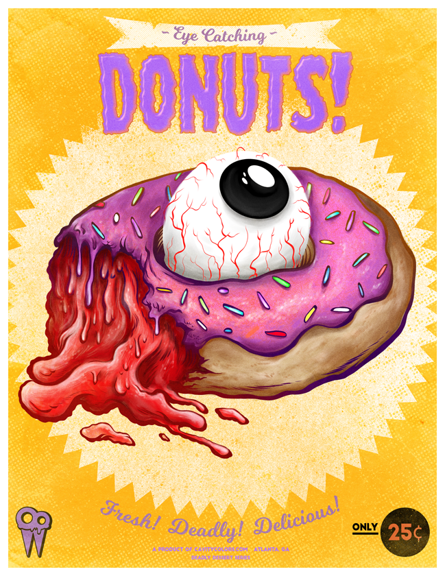 """EYE HEART DONUTS"" DEADLY DESSERT PRINT"