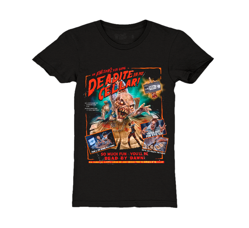 EVIL DEAD 2: VCR GAME - GIRLS T-SHIRT