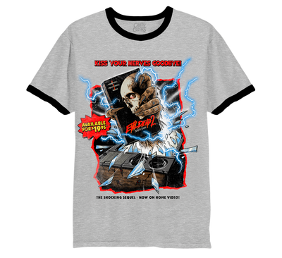 EVIL DEAD 2: HOME VIDEO HORROR - RINGER T-SHIRT
