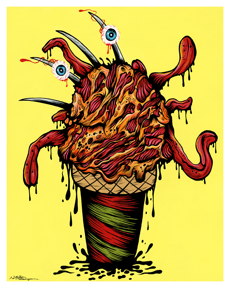 """FREDDY 2 SCOOPS"" DEADLY DESSERT PRINT"