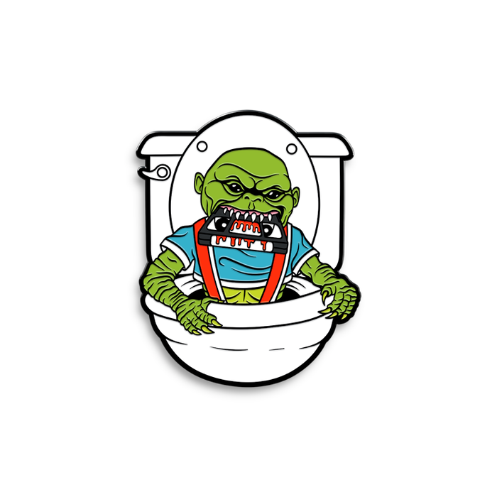 GHOULIES TAPE EATER - ENAMEL PIN