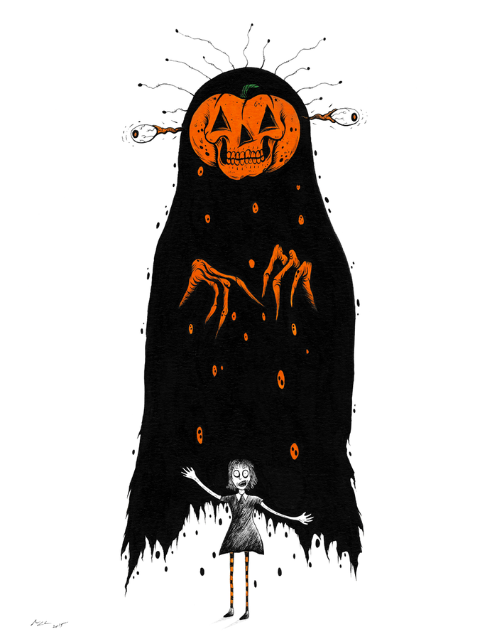"""THE GIRL WHO DREAMS OF HALLOWEEN"" LIMITED EDITION PRINT"