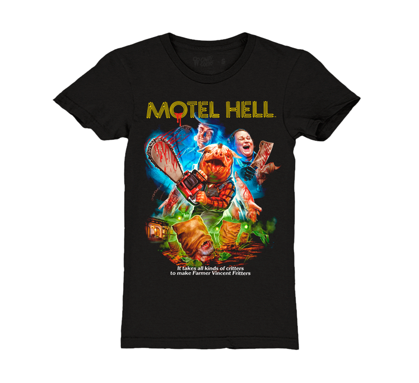 ec53b35312f MOTEL HELL - GIRLS T-SHIRT - CAVITYCOLORS