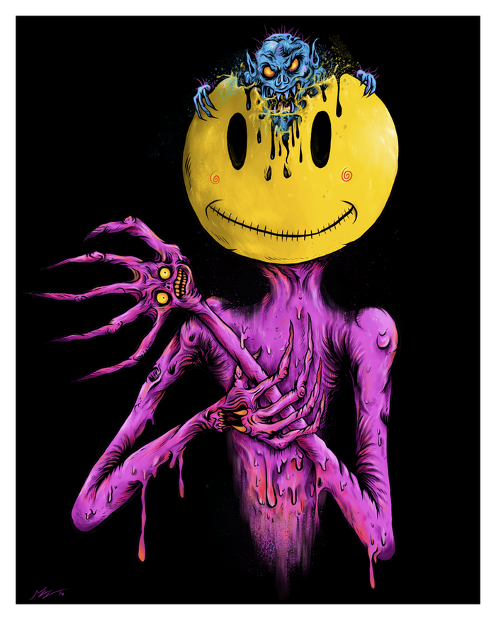 """MR.SMILEY"" DEADLY DESSERT PRINT"