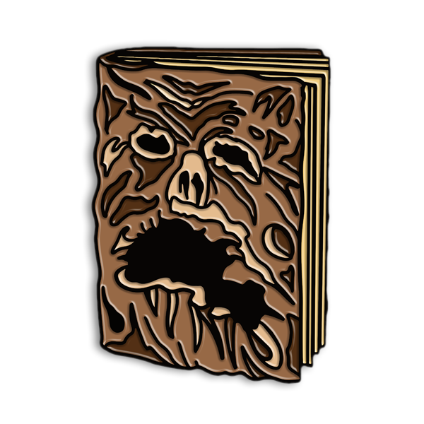 """NECRONOMICON"" ENAMEL PIN"