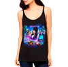 ELVIRA'S HOME VIDEO HORROR - LADIES SLOUCHY TANKTOP
