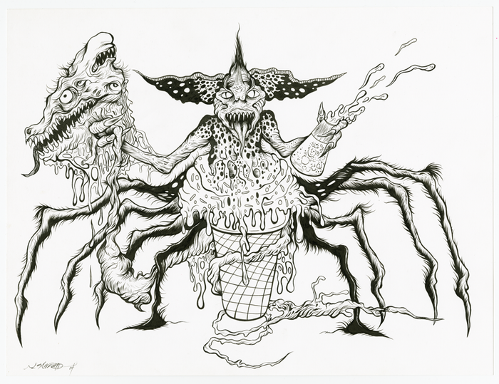 """SPIDER GREMLIN"" ORIGINAL DRAWING"