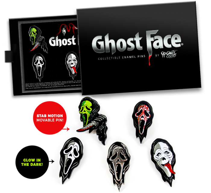 GHOST FACE® ENAMEL PIN BOX SET