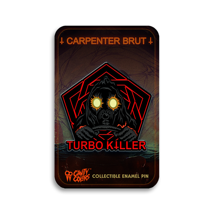 CARPENTER BRUT - TURBO KILLER - ENAMEL PIN