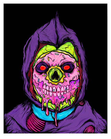 """SWEET SKELETOR"" DEADLY DESSERT PRINT"
