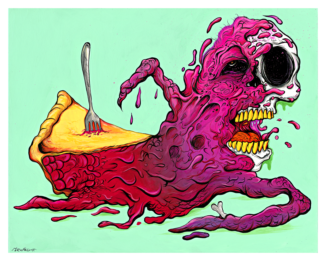 """THE BLOB PIE"" DEADLY DESSERT PRINT"