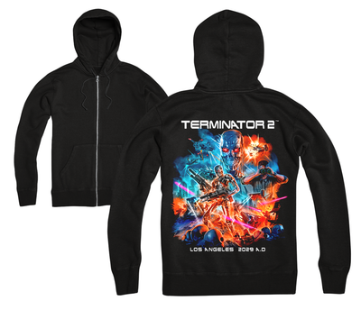 TERMINATOR 2 ™ - FUTURE LA - ZIP UP HOODIE