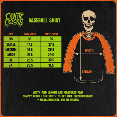 RETURN OF THE LIVING DEAD 3: TO DIE FOR - BASEBALL SHIRT