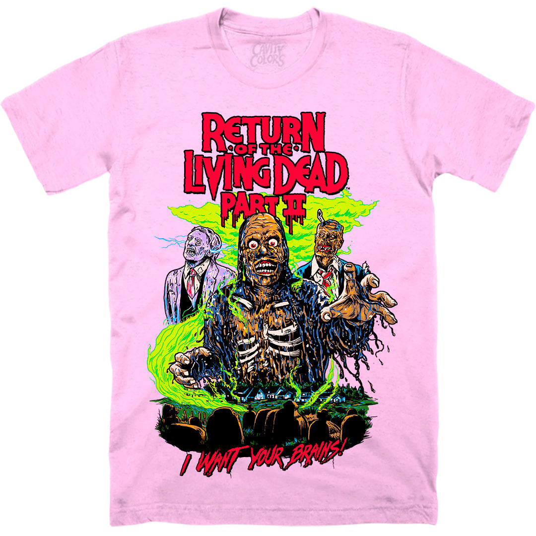 TARMAN: RETRO HORROR - T-SHIRT (BRAIN PINK)