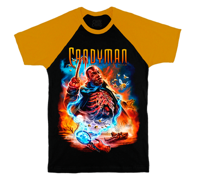 CANDYMAN: FAREWELL TO THE FLESH - RAGLAN T-SHIRT (HONEY SLEEVES)