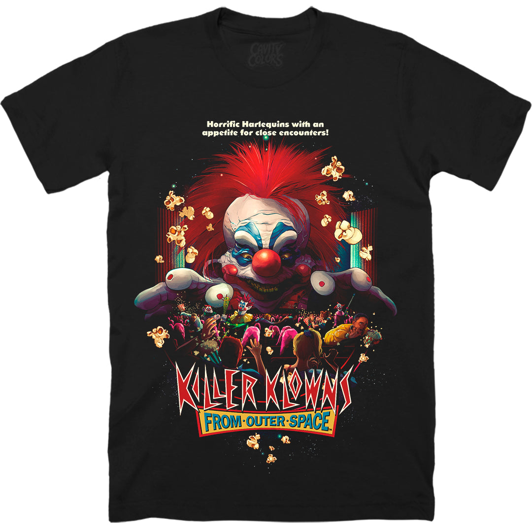 KILLER KLOWNS: POPCORN AND A MOVIE T-SHIRT